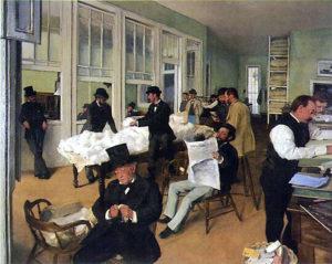 Le Bureau de coton à La Nouvelle-Orléans / De katoenhandel in Nieuw-Orleans (1873) - Edgar Degas