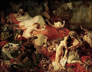 La Mort de Sardanapale / De moord van Sardanapaulus (1827) - Eugène Delacroix