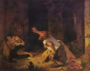 beroemdste schilderijen van Delacroix Le Prisonnier de Chillon / De gevangene van Chillon (1816)