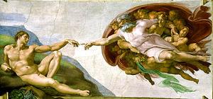 De schepping van Adam (1512) - Michelangelo