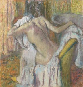 Après le bain, femme s'essuyant / Na een ba, vrouw droogt zich af (1890-1895) - Edgar Degas