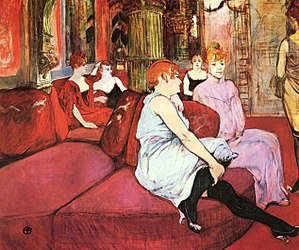 Au Salon de la rue des Moulins / De Salon in de rue des Moulins (1894) - Henri de Toulouse-Lautrec
