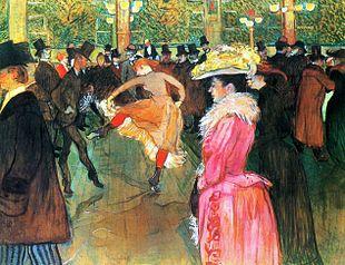 La Danse au Moulin Rouge / Dansen in de Moulin Rouge (1890) - Henri de Toulouse-Lautrec