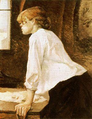 La Blanchisseuse / De wasvrouw (1884-1888) - Henri de Toulouse-Lautrec