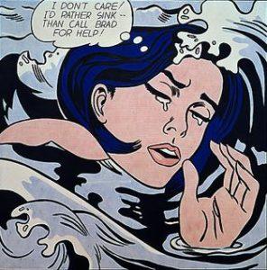 Drowning Girl / Secret Hearts or I Don't Care! I'd Rather Sink (1963) - Roy Lichtenstein