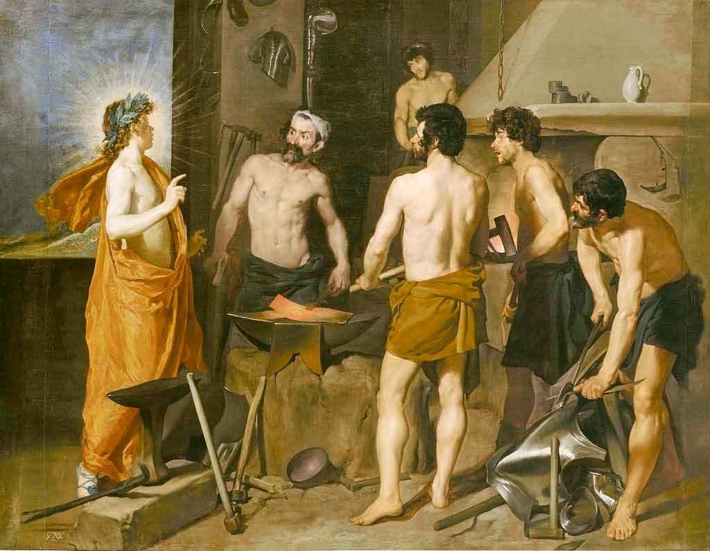 La fragua de Vulcano / Apollo in de smederij van Vulcanus (1630) - Diego Velazquez