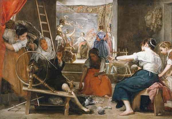 Las Hilanderas / De Spinsters (1657) - Diego Velazquez