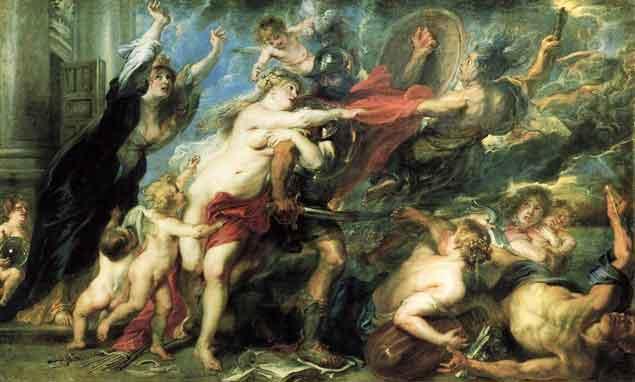 De gevolgen van de oorlog (1637) - Peter Paul Rubens