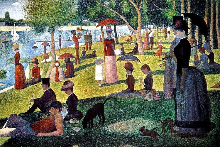 Dimanche d'été à la Grande Jatte (1886) - Georges Seurat