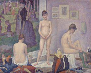 Les Poseuses / De modellen (1888) - Georges Seurat