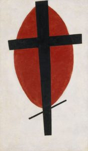 Mystic Suprematism (Black Cross on Red Oval) (1920-22)