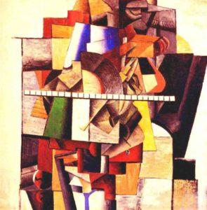 Portrait of the Artist M. V. Matiushin (1913) - Kazimir Malevich