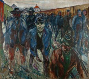 Workers Returning Home (1913-15) Edvard Munch