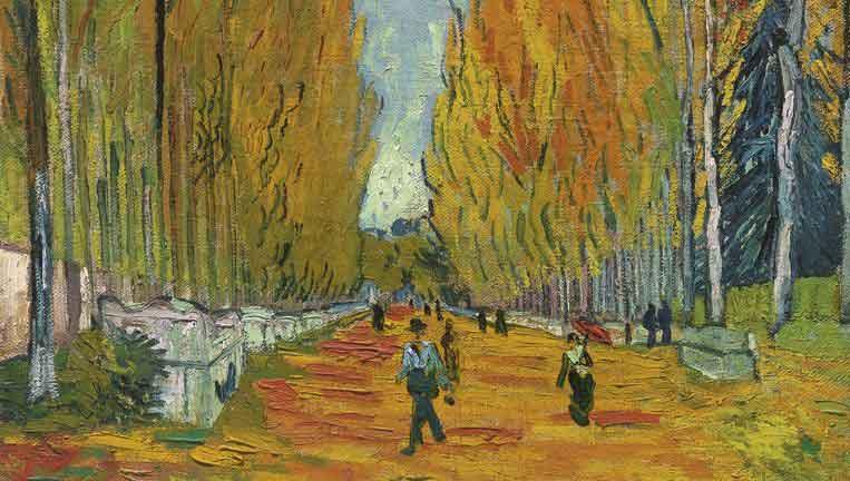 L'Allée des Alyscamps (1888) – Vincent van Gogh
