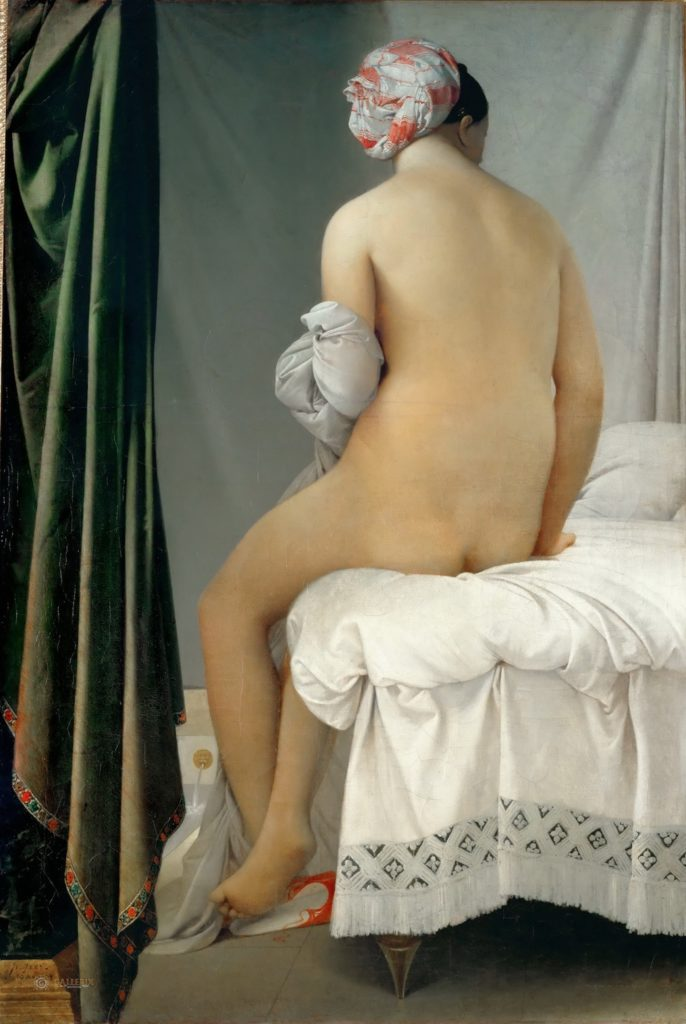 La baigneuse of Baigneuse Valpinçon / De baadster van Valpinçon (1808) - Jean-Auguste-Dominique Ingres