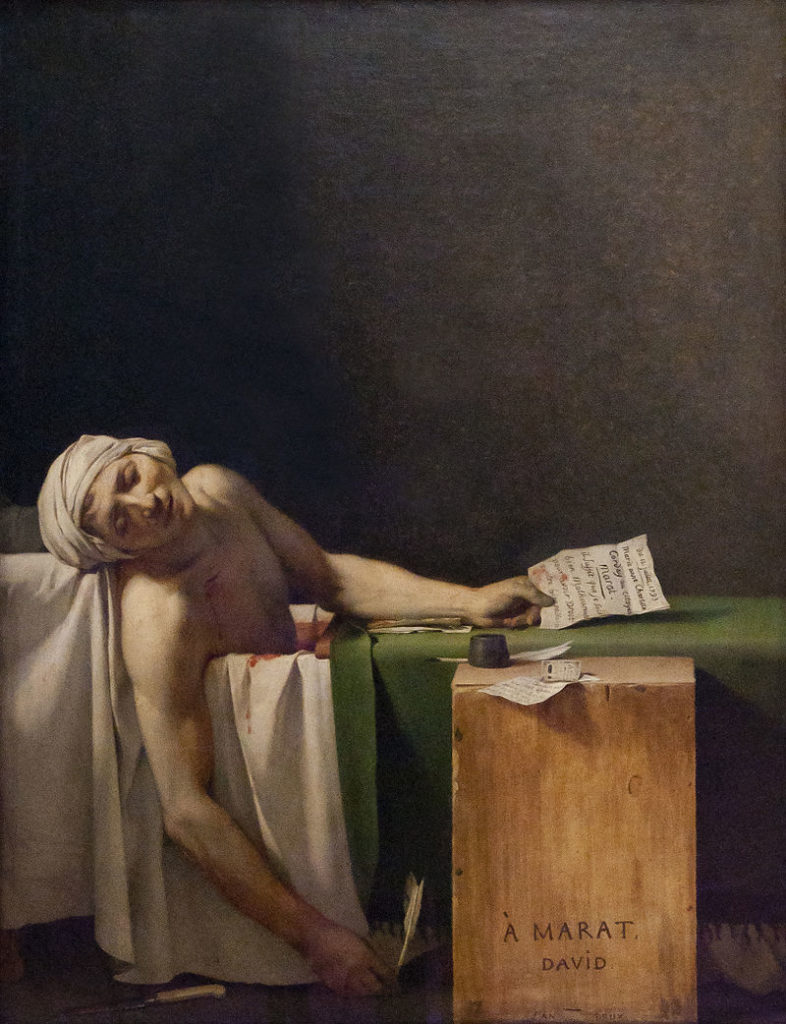 La Mort de Marat / De dood van Marat (1793) - Jacques-Louis David