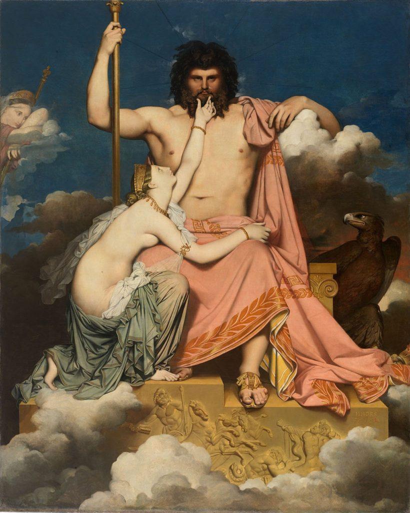Jupiter et Thétis / Jupiter en Thetis (1811) – Jean-Auguste-Dominique Ingres