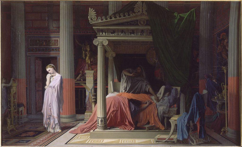 La Maladie d'Antiochus/ De ziekte van Antiochus (1840) - Jean-Auguste-Dominique Ingres