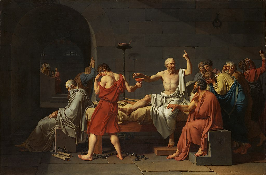 La Mort de Socrate / De dood van Socrates (1787) - Jacques-Louis David