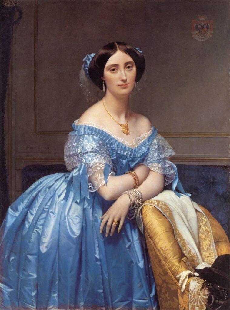 La Princesse de Broglie / Portret van de prinses van Broglie (1853) - Jean-Auguste-Dominique Ingres