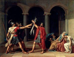 Le Serment des Horaces / De eed van de Horatii (1784) - Jacques-Louis David