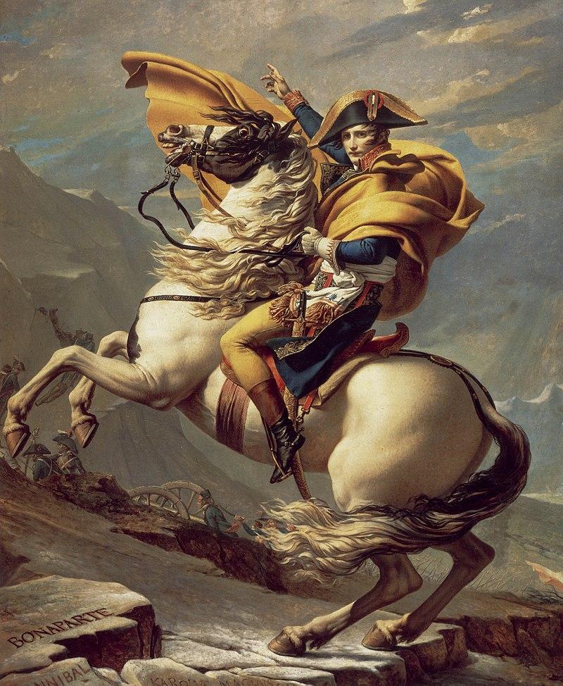 Bonaparte franchissant le Grand-Saint-Bernard / Napoleon Bonaparte steekt de Alpen over op de Grand Saint Bernard (1805) - Jacques-Louis David