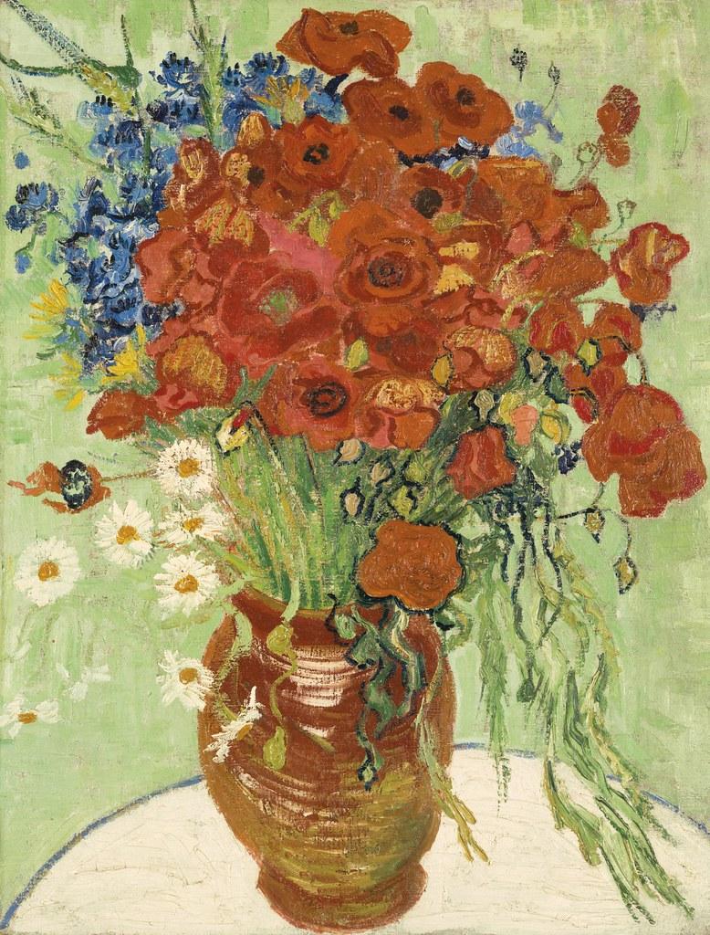 Vase Aux Marguerites Et Coquelicots (1890) - Vincent van Gogh