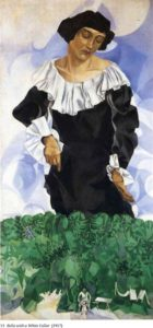 Bella with white collar / Bella met witte kraag (1917) - Marc Chagall