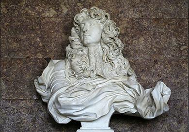 Buste van Lodewijk XIV in het Kasteel van Versailles - Bernini