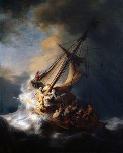 Christus in de storm op het meer van Galilea (1633) - Rembrandt van Rijn