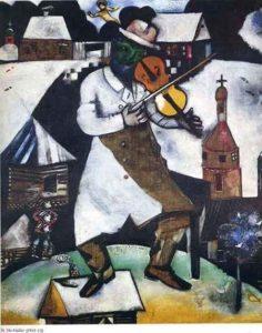 Le violoniste / De violist (1913) - Marc Chagall