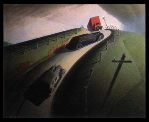 Death on the Ridge Road (1935) - Grant Wood