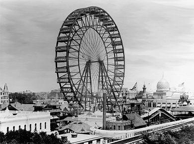 Het Ferris Wheel in 1893