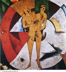 Hommage à Apollinaire / Eerbetoon aan Apollinaire - Marc Chagall (1912)