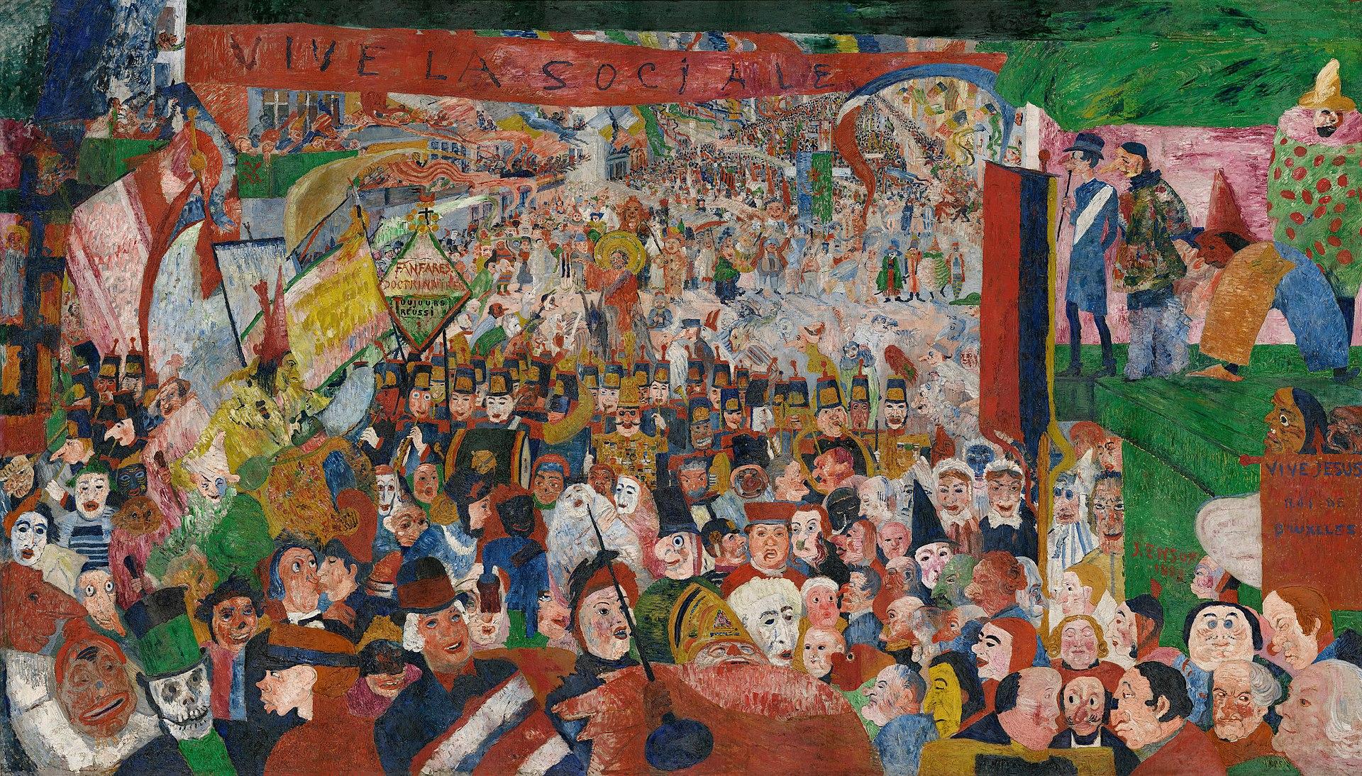 De Intocht van Christus te Brussel (1889) - James Ensor
