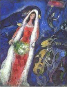 La Mariée / De trouwerij (1950) - Marc Chagall