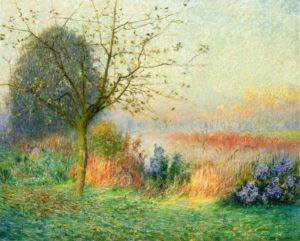 Oktobermorgen langs de Leie (1901) - Emile Claus