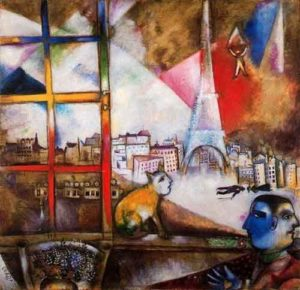 Paris Through the Window / Parijs door het raam (1913) - Marc Chagall