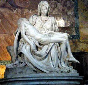 Pietà, 1499, Sint Pieter, Rome, hoogte 174 cm - Michelangelo