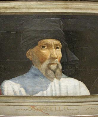 Portret van Donatello uit de 16e eeuw