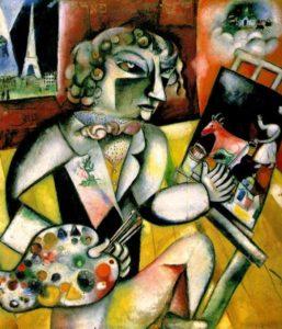 Self Portrait with Seven Fingers / Zelfportret met zeven vingers (1913) - Marc Chagall