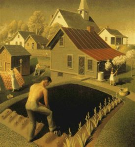 Spring In Town (1941) - Grant Wood