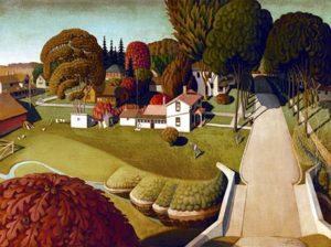 The Birthplace of Herbert Hoover (1931) - Grant Wood