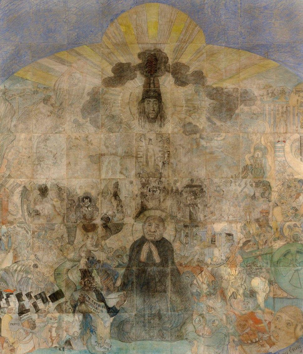 De verzoeking van de heilige Antonius (1887) - James Ensor