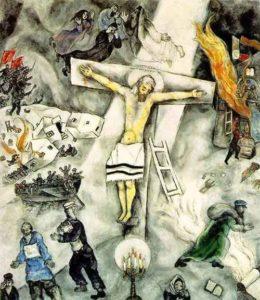 White Crucifixion / Witte kruisiging (1938) - Marc Chagall