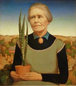 Woman with Plants (1929) - Grant Wood