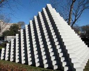 Four-Sided Pyramid (1999) - National Gallery of Art - Sol LeWitt