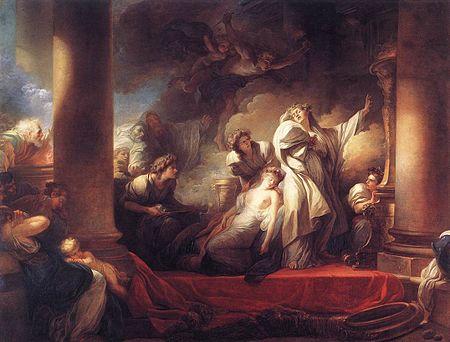 Le grand prêtre Corésus se sacrifie pour sauver Callirhoé / Coresus offert zichzelf op om Callirhoe te redden ) - Jean-Honoré Fragonard