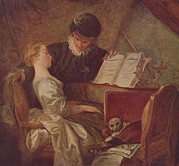 La Leçon de musique / De muziekles (1770) - Jean-Honoré Fragonard