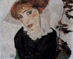 Wally Neuzil / Portret van Wally Neuzil (1912) - Egon Schiele